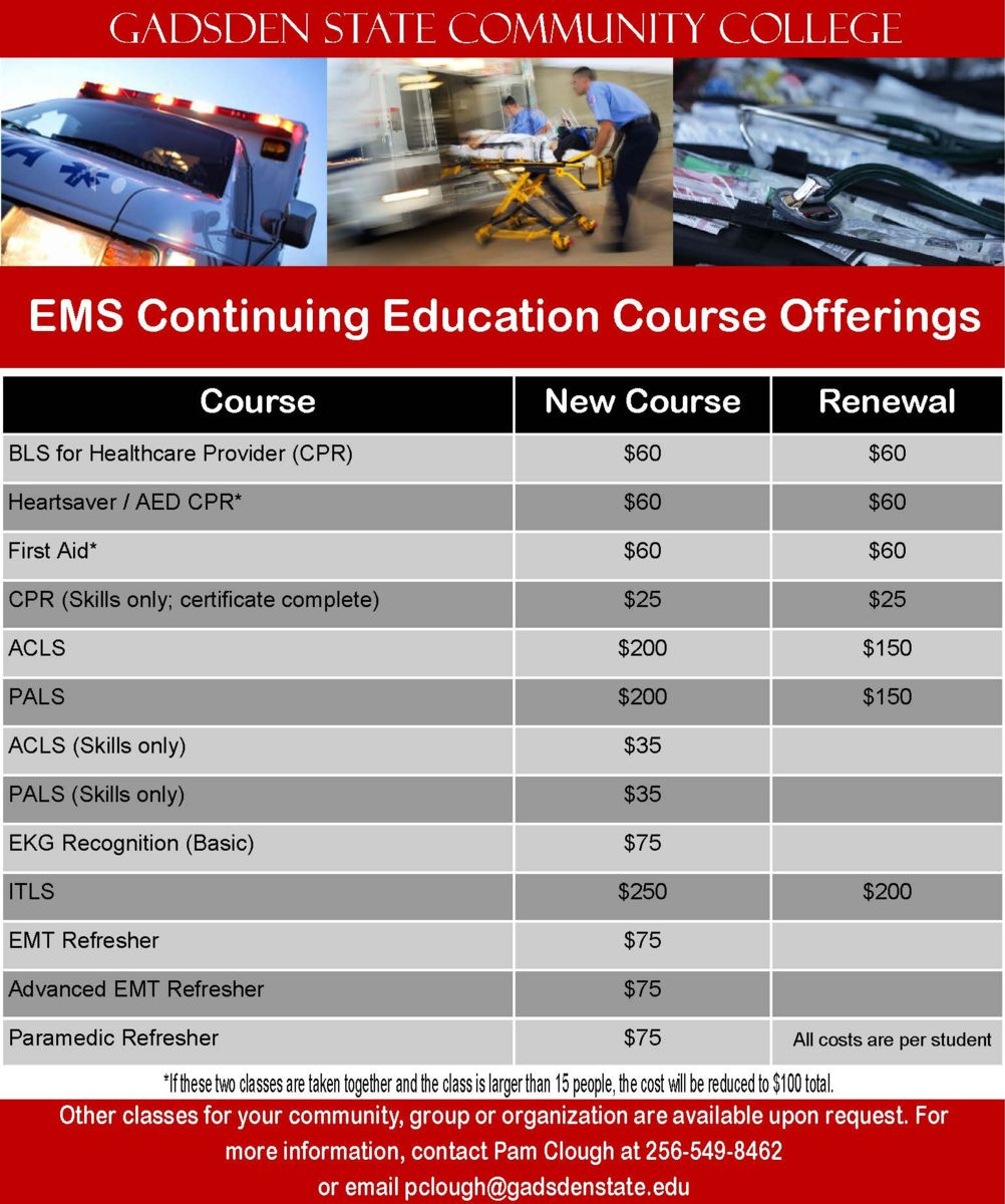 EMS and CPR offerings